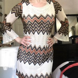 Tacera Retro 70s Dress with Bell Sleeves